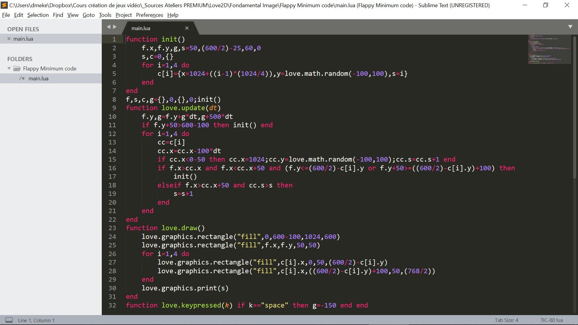 David Gamecodeur on Twitter 32 lines of code flappybird made 1920x1080