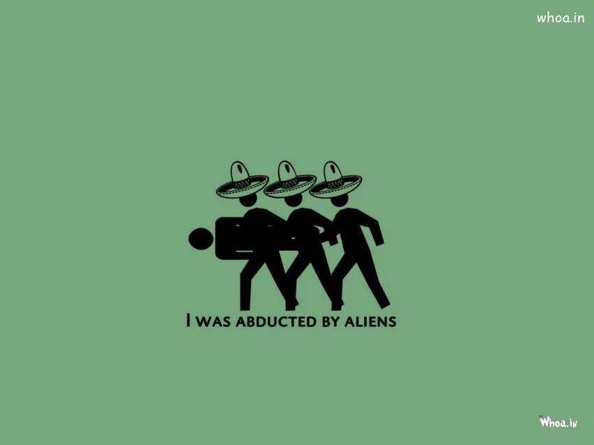 Cartoon Fun Like I Was Abducted By Aliens HD Wallpaper 850x637