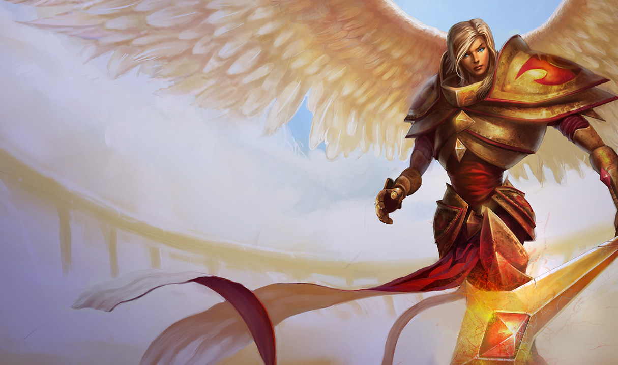 League of Legends Wallpaper Kayle   The Judicator 1215x717