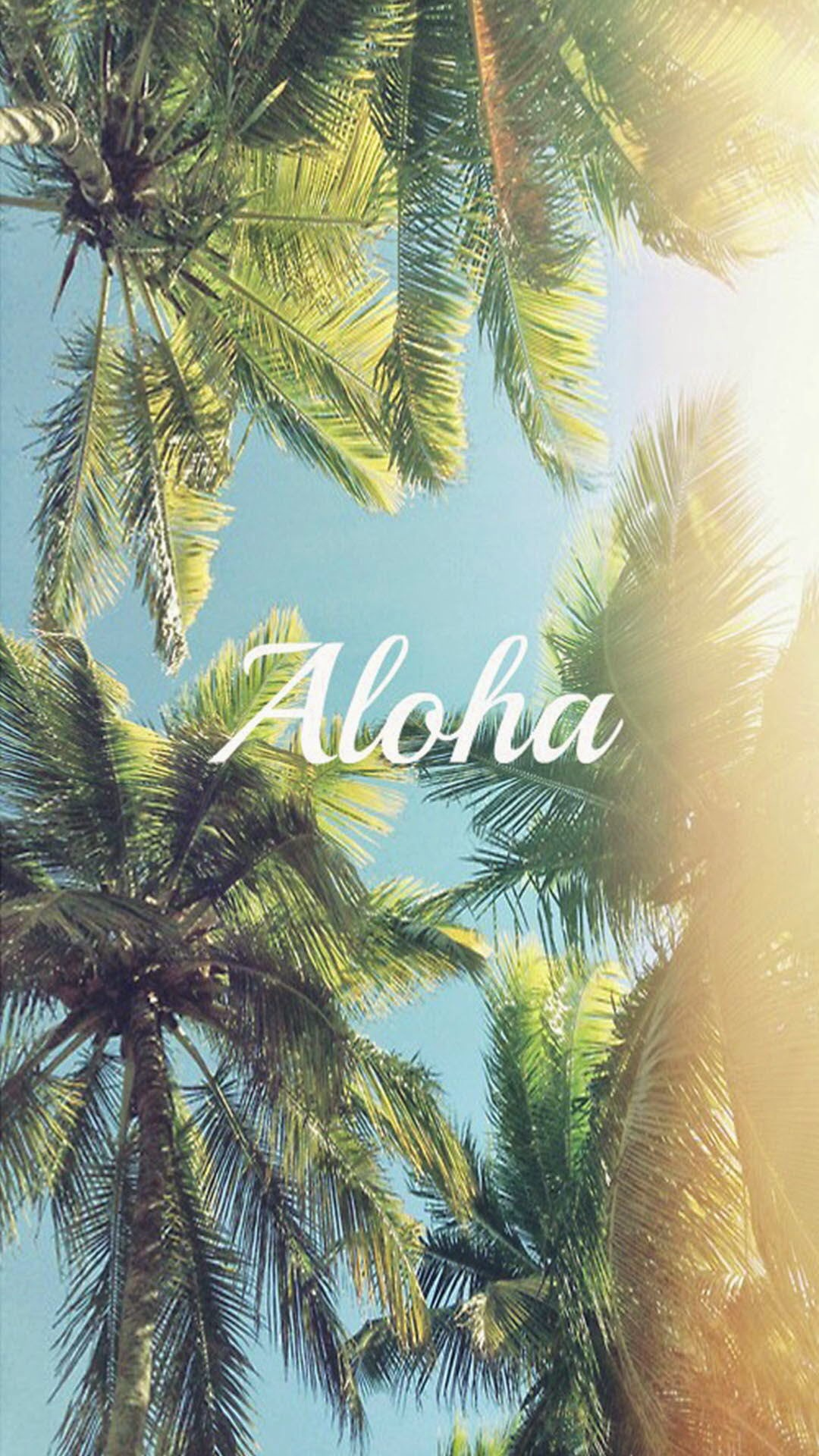Aloha Palm Trees iPhone 6 Wallpaper Download | iPhone Wallpapers, iPad ...