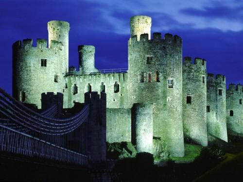 Conwy Castle Gwynedd Wales United Kingdom Screensaver 500x375