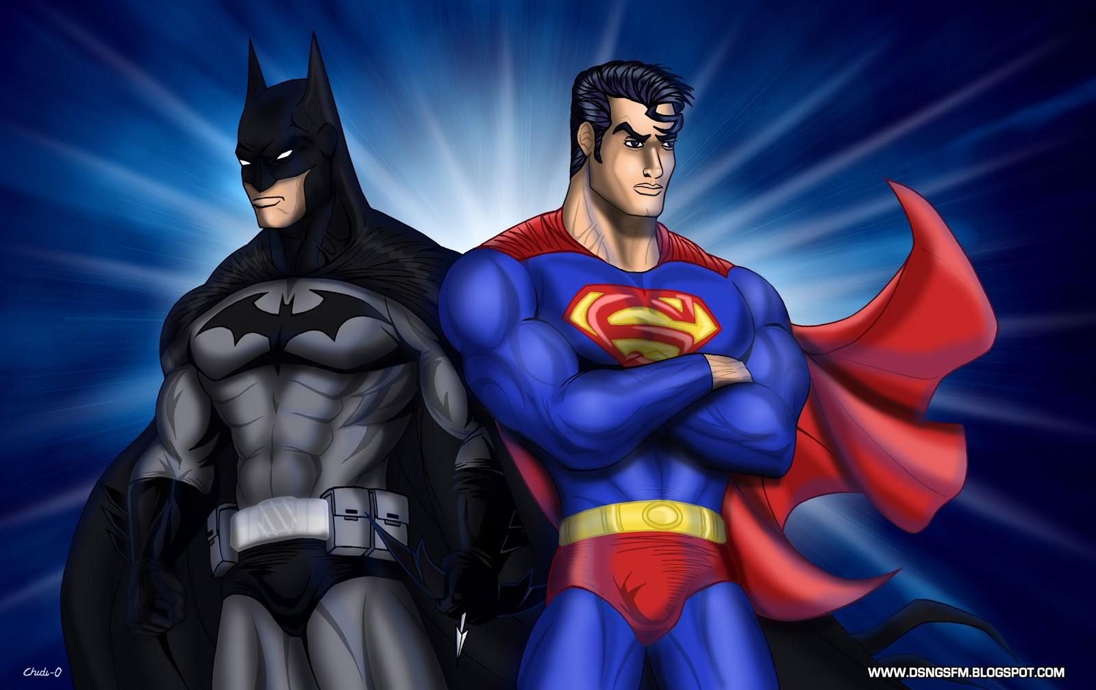 Supermanbatmanlogowallpaper 1600x1008
