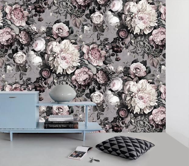 Ellie Cashman Dark Floral Wallpaper Wallpapersafari