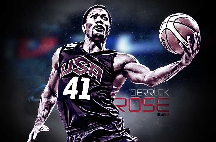 Derrick Rose TEAM USA Wallpaper by GfxByMega 850x560