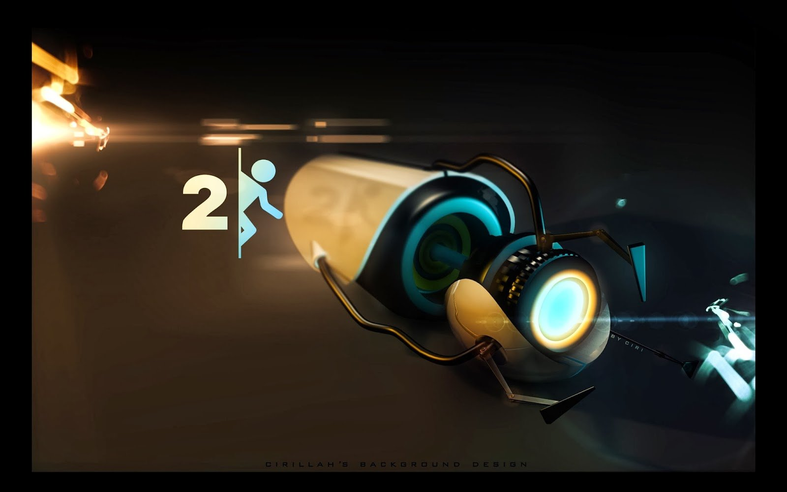 Portal 2 background wallpapersafari for 3 portals