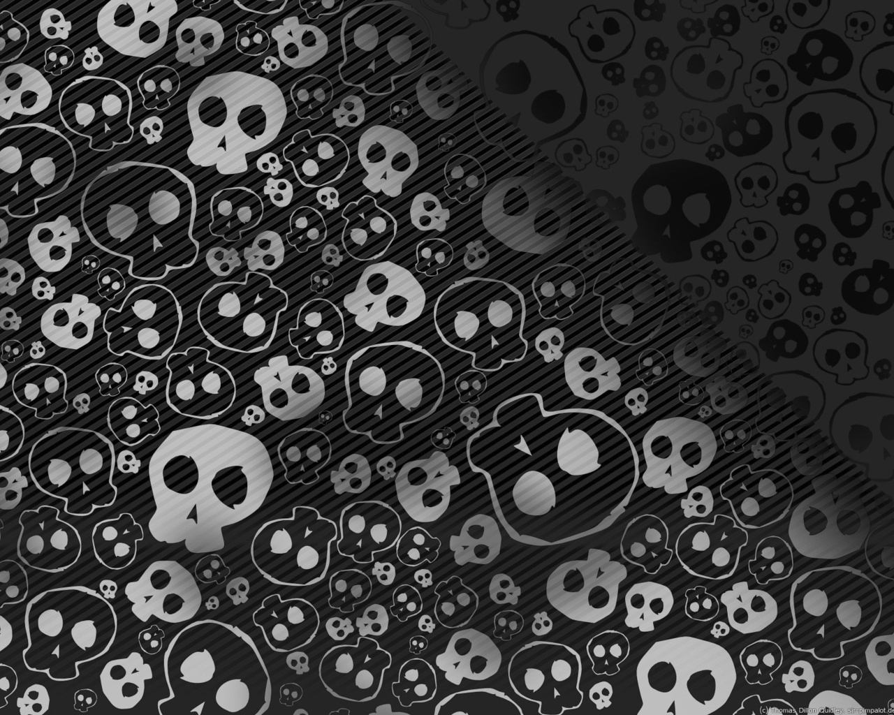 Black and White Skulls Wallpaper   Black Wallpaper 28520501 1280x1024