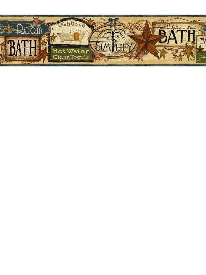 Bathroom border from wallpaperwholesalercom 720x960