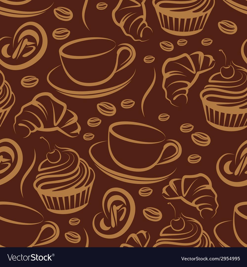 Coffee break seamless background Royalty Vector Image 1000x1080