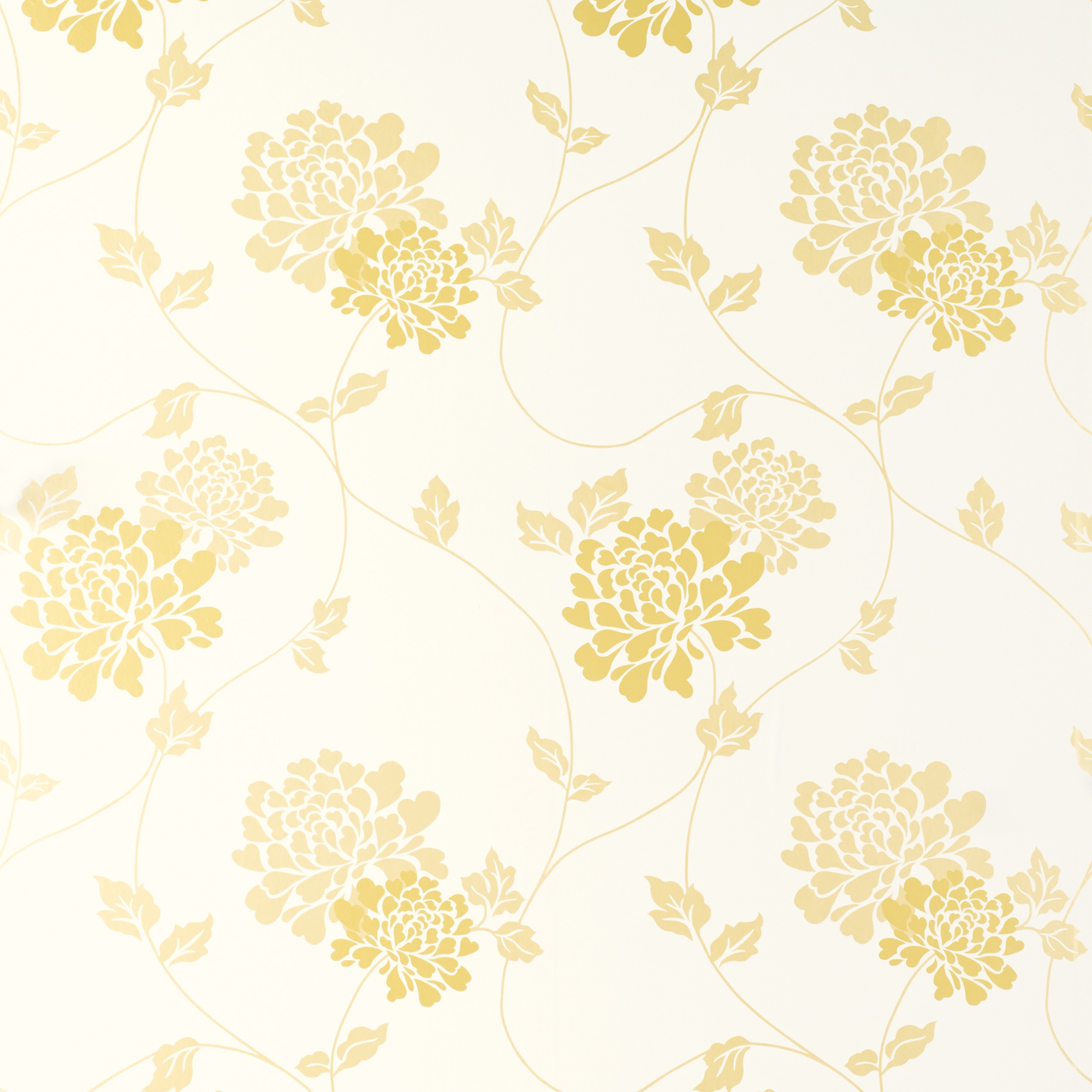 white and gold floral wallpaper - photo #9