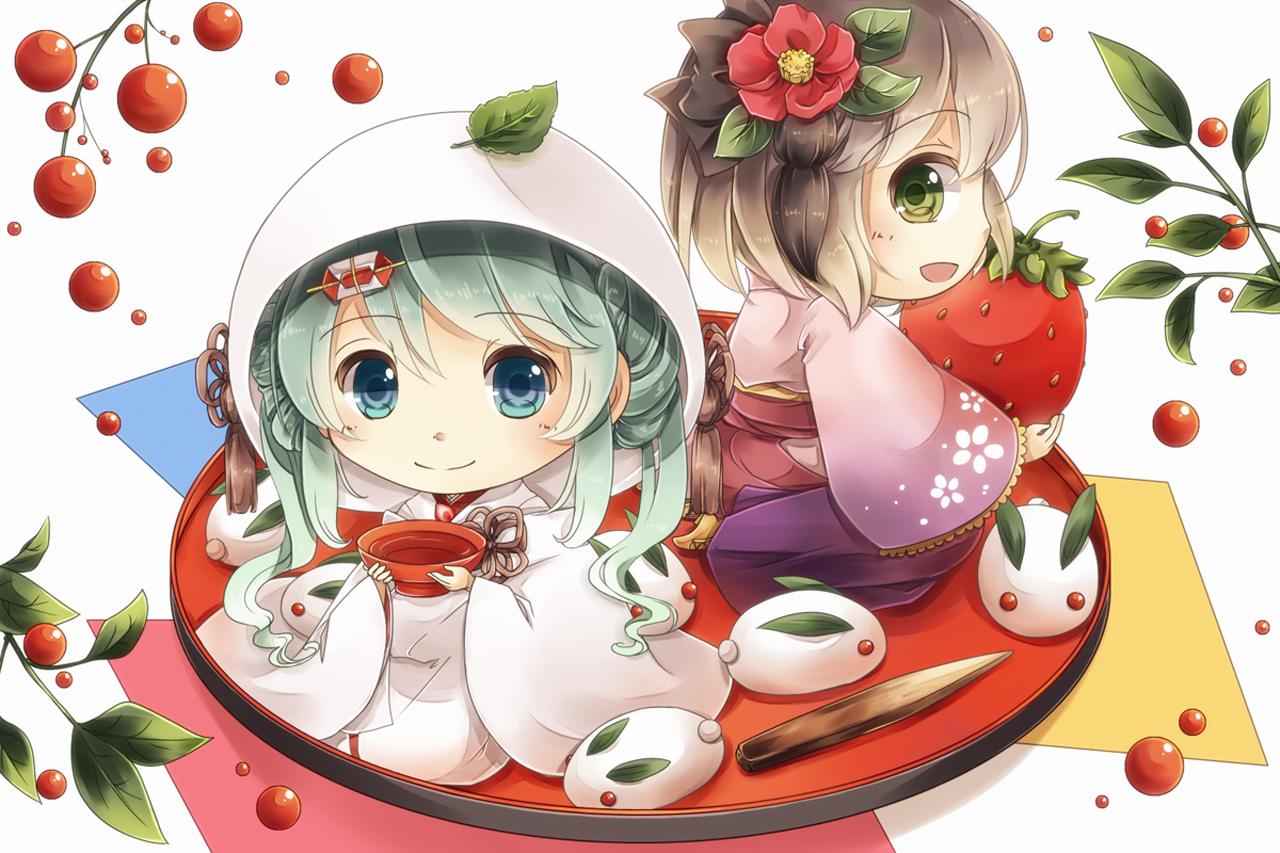 Pics Photos   Cute Anime Chibi Animalsdownload Wallpaper 1280x853