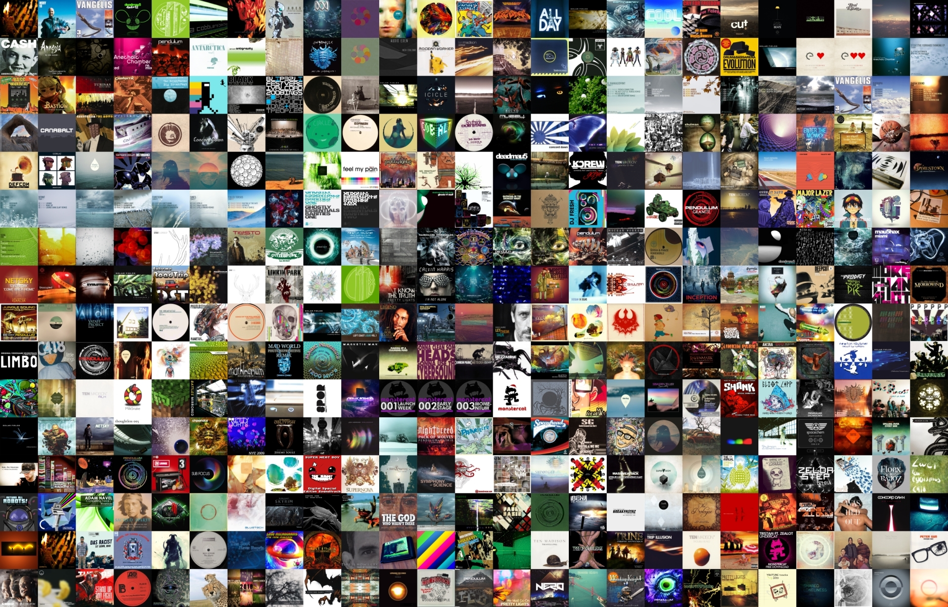 Download Wallpapers Download music collage album covers cover art 1920x1229