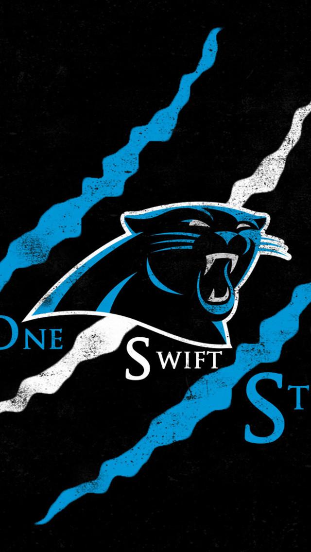 One Swift Strike   Carolina Panthers Wallpaper for iPhone 5 640x1136