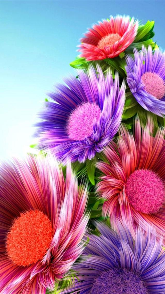 3d color flowers iphone 5 hd wallpaper 640x1136 hd iphone 5 wallpapers 640x1136