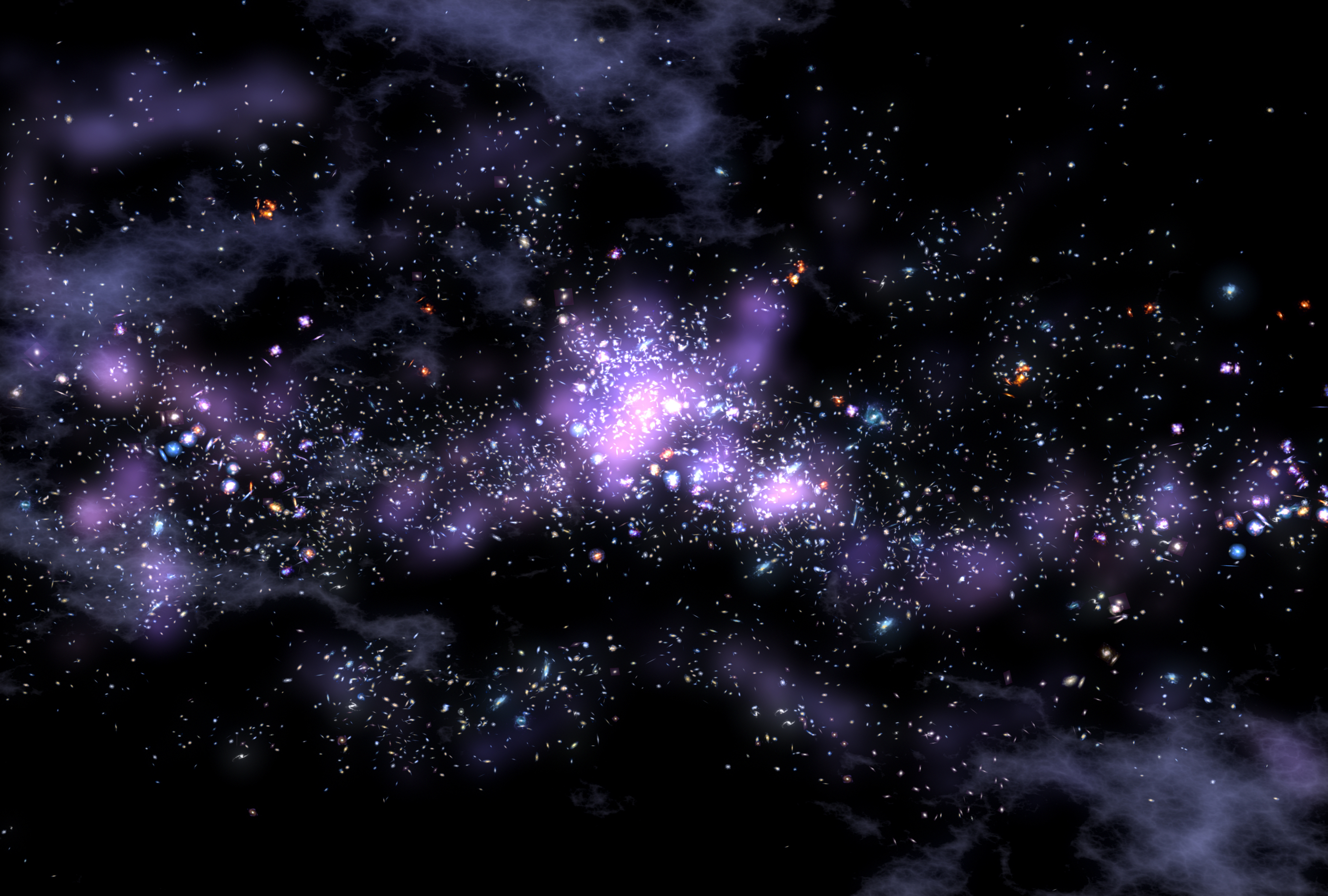 Free download NASA Top Story Giant Galaxy String Defies