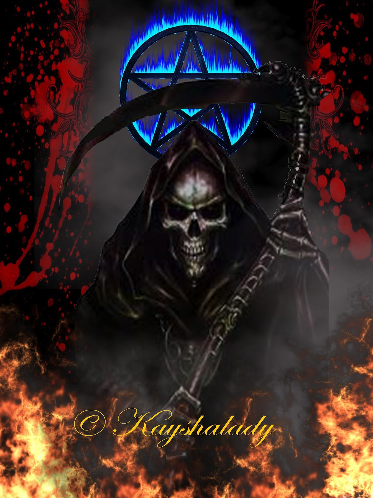 Grim Reaper Grim Reaper Screensavers and Skulls 1200x1600