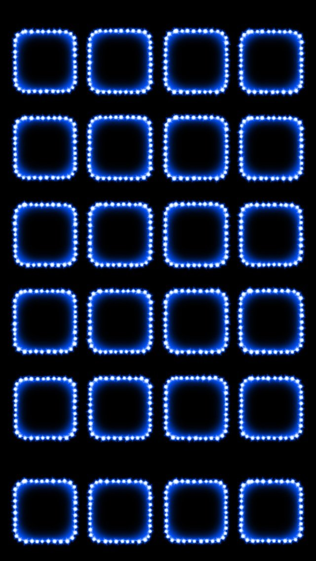 Blue Dotted App Borders Wallpaper   iPhone Wallpapers 640x1136