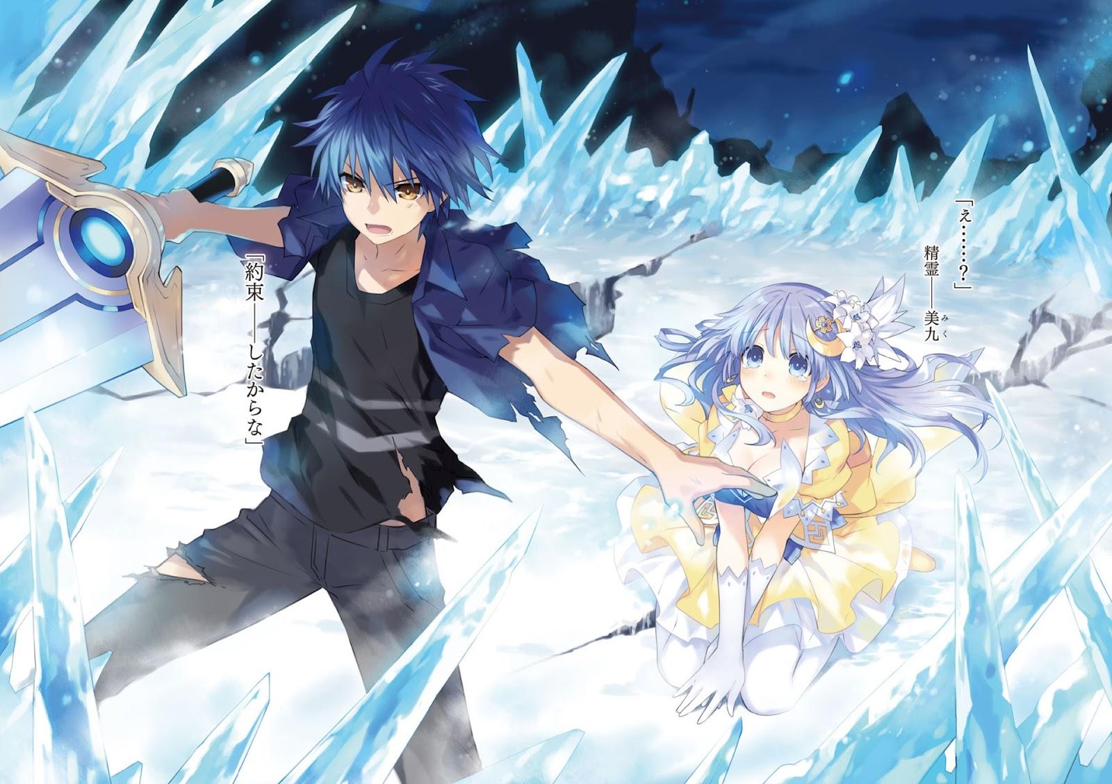 Date A Live Shido Itsuka Miku Izayoi Anime Sword Ice Frozen Field HD 1600x1128