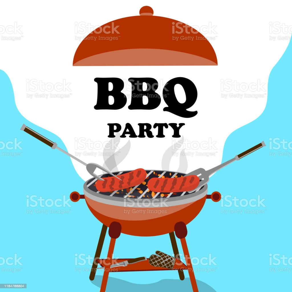 Bbq Background With Barbecue And Grilled Sausages Picnic Concept 1024x1024