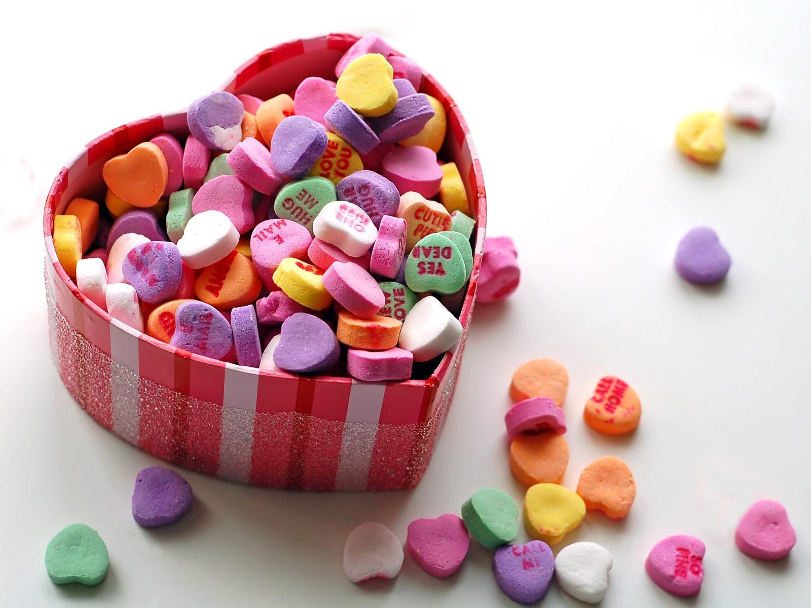 Valentine S Day Candy Hearts Wallpaper Wallpapersafari