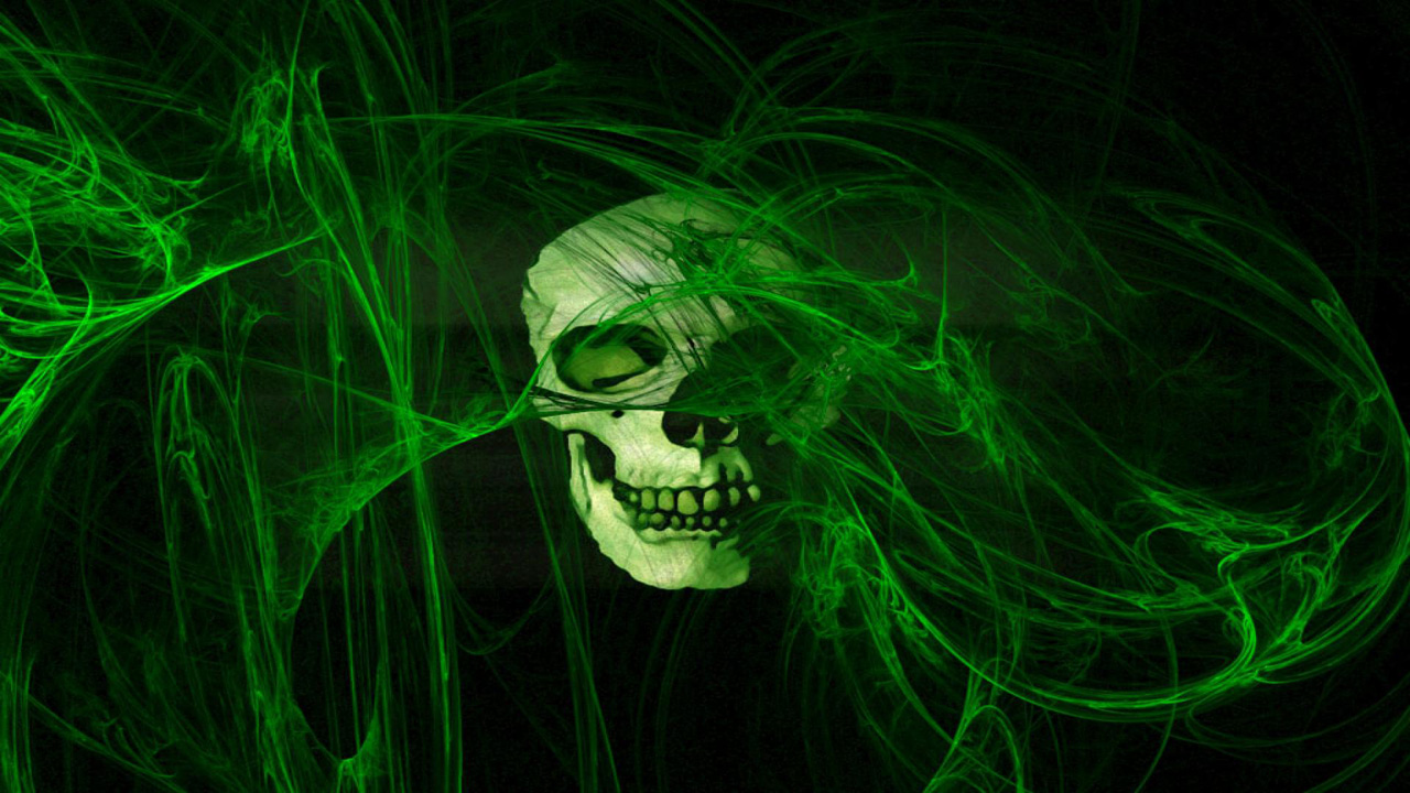 green skull mobile wallpapers download green Car Pictures 1280x720