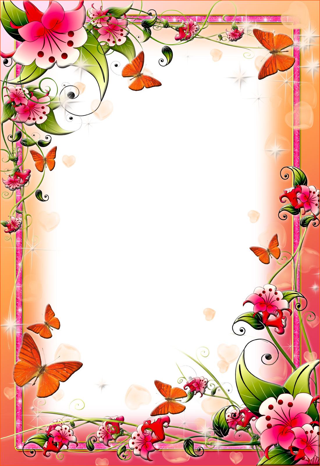 46 Flower Borders Wallpaper On Wallpapersafari