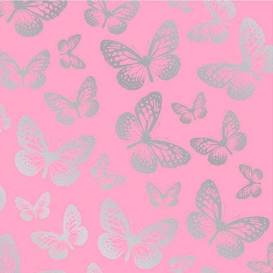 butterfly metallic wallpaper in pink from I Love Wallpaper Vintage 550x550