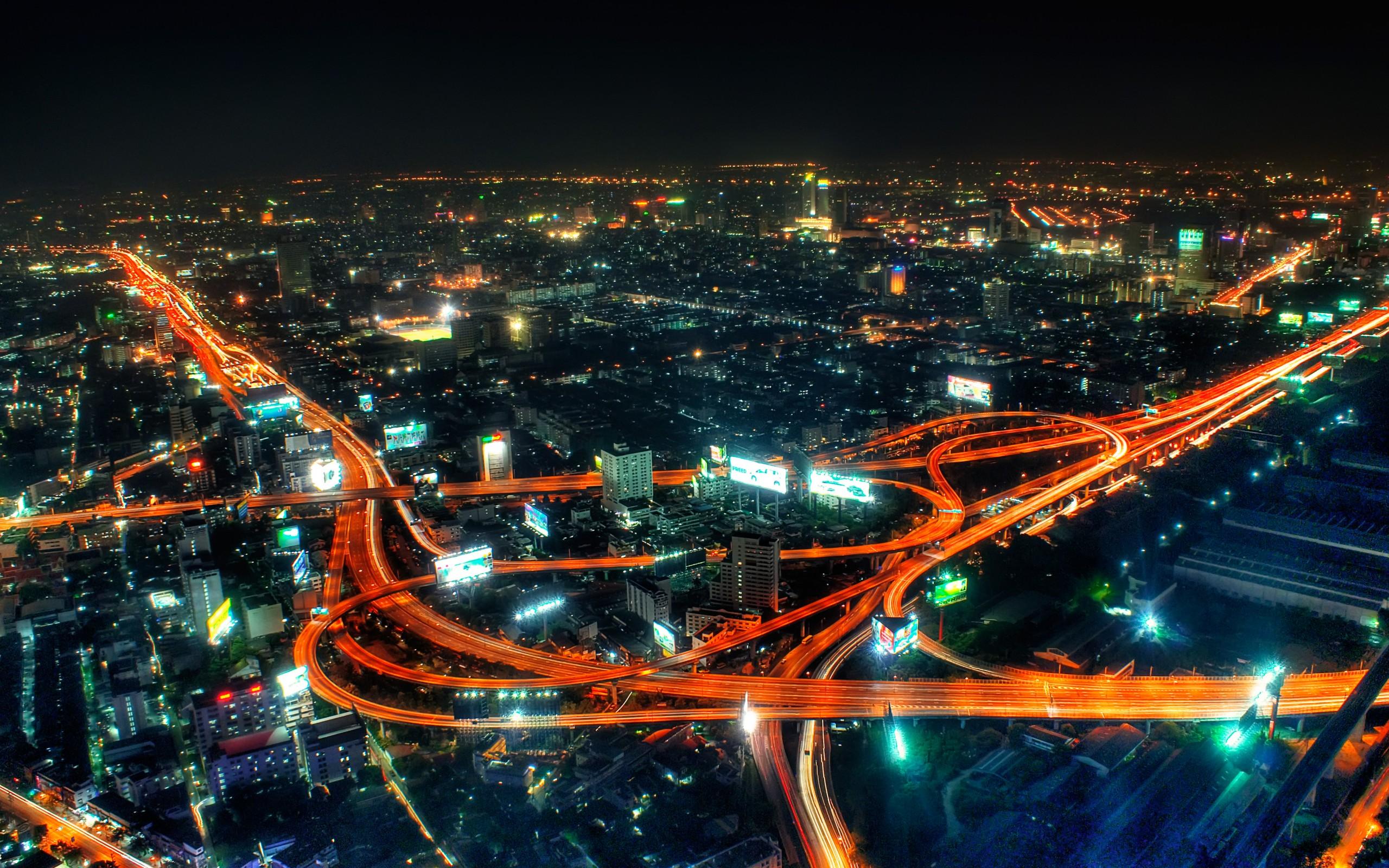 City life at night wallpapers City life at night stock photos 2560x1600