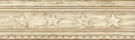 Rustic Star Wallpaper Border CB089183B   Wallpaper Border 525x157