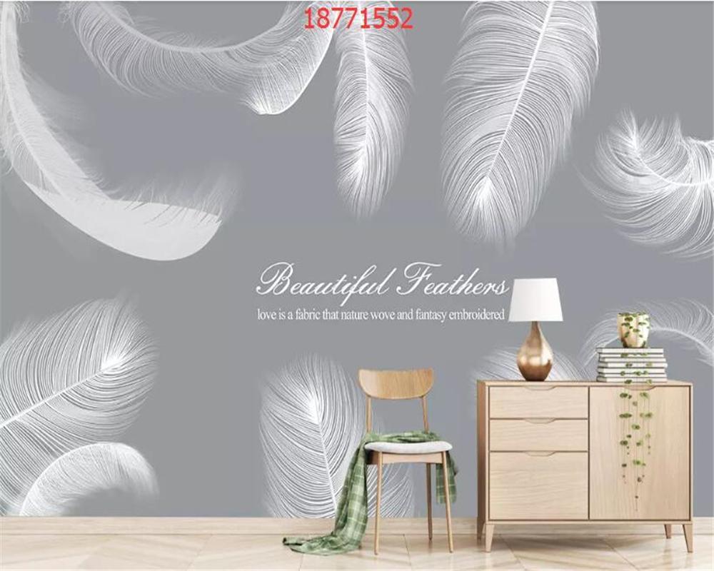 Beibehang Custom Size Nordic Minimalist Small Fresh Creative 1000x800