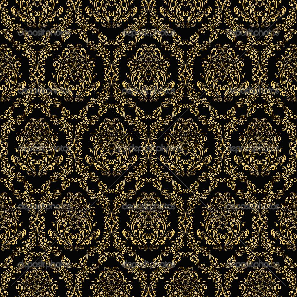 Black And Gold Vintage Wallpaper WallpaperHDCcom 1024x1024
