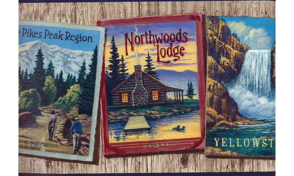 Home Northwood Lodge Wallpaper Border 1000x600