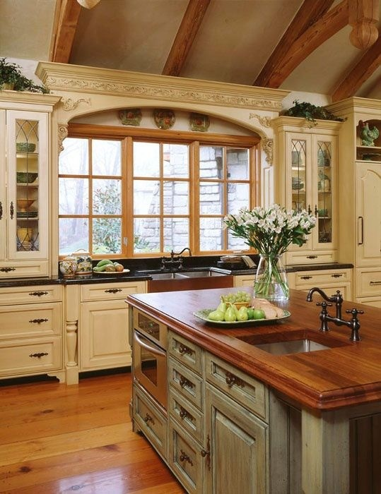 French Country Kitchen Design Traditional Kitchen Dc Metro 539x700
