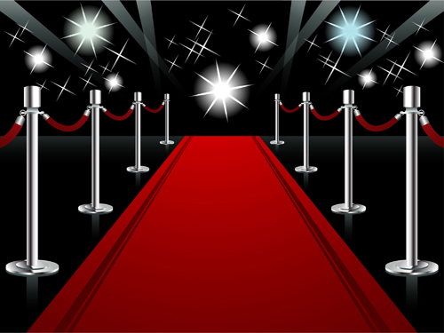 Ornate red carpet backgrounds vector material 05 Over millions 500x375