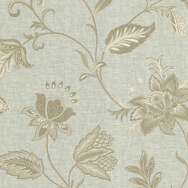 302 66821 Blue Jacobean Flower   Heritage   Beacon House Wallpaper 600x600