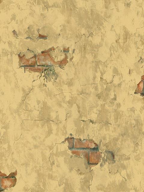 Plastered Tuscan Brick Wallpaper   Mediterranean   Wallpaper   houston 480x640