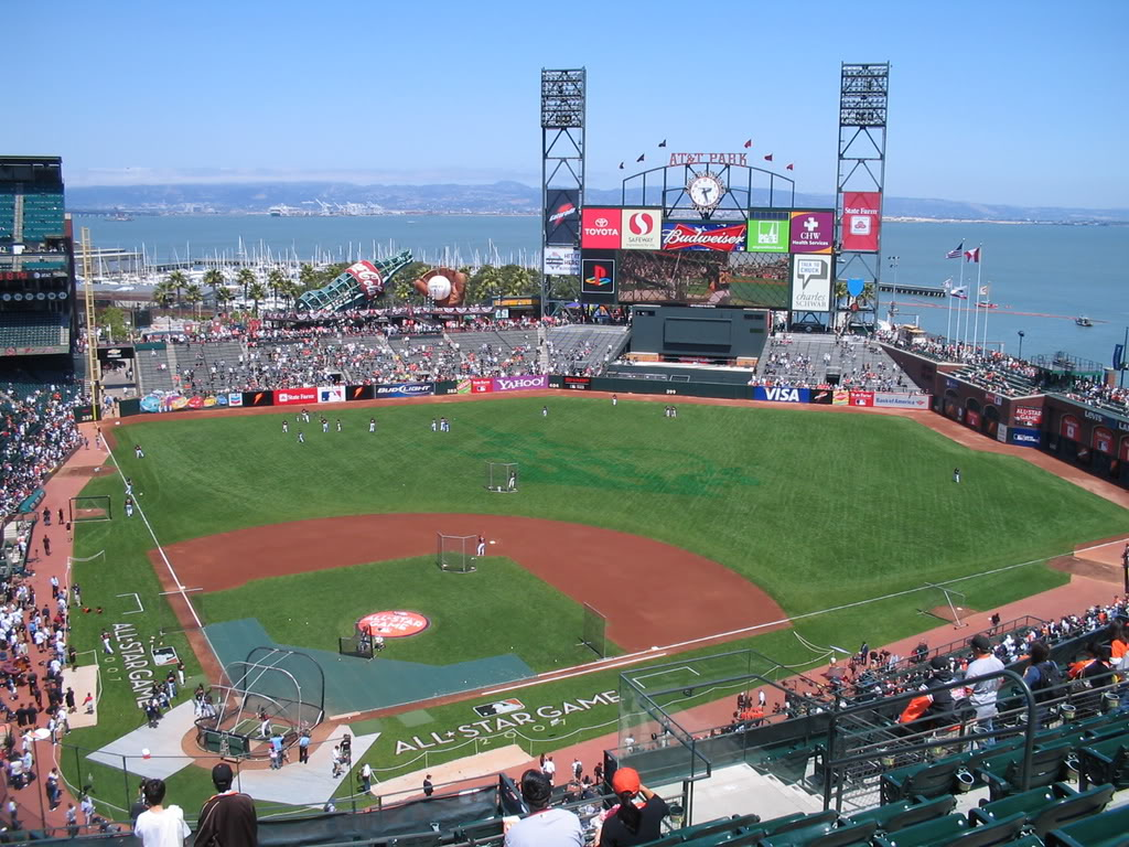Giants At Att Park Pictured