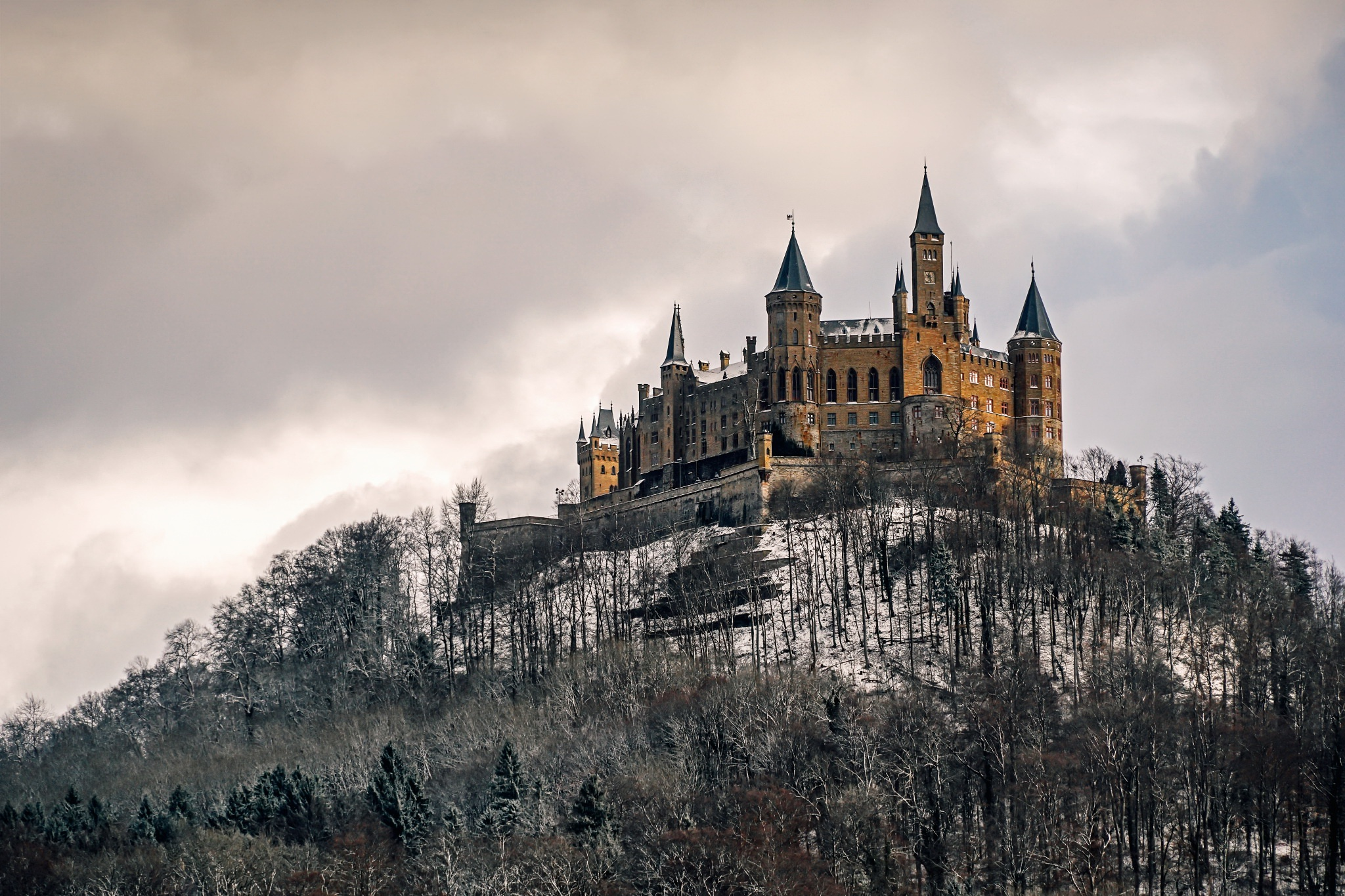 Hohenzollern Castle HD Wallpaper Background Image 2048x1365 2048x1365