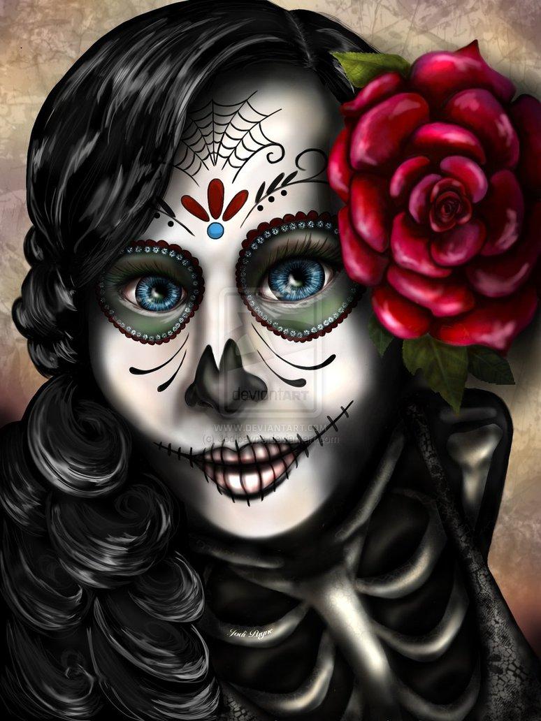 Rosamarie the Sugar Skull Girl by Jodipayne 774x1032
