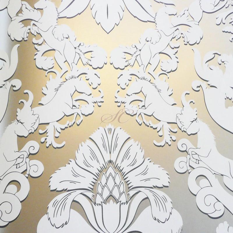 White and Silver Metallic Wallpaper - WallpaperSafari