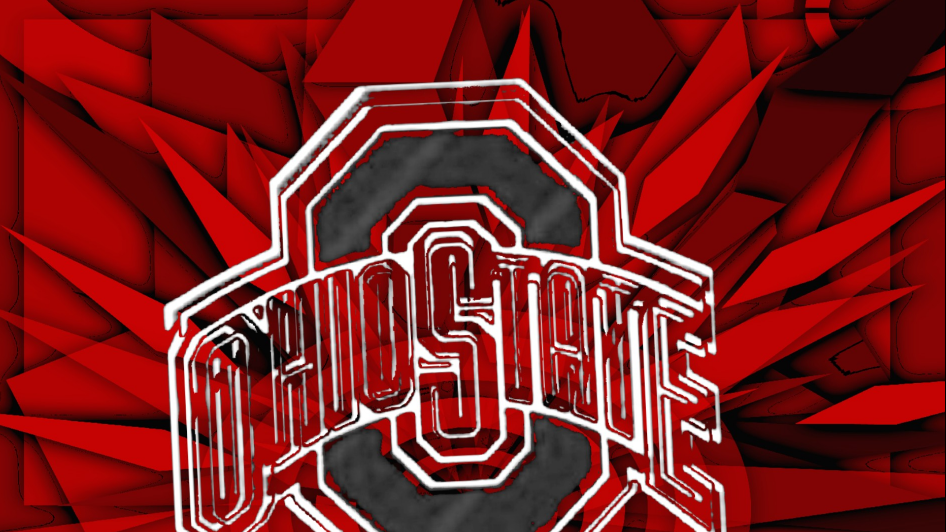 Ohio State Buckeyes OHIO STATE GRAY BLOCK O 1920x1080