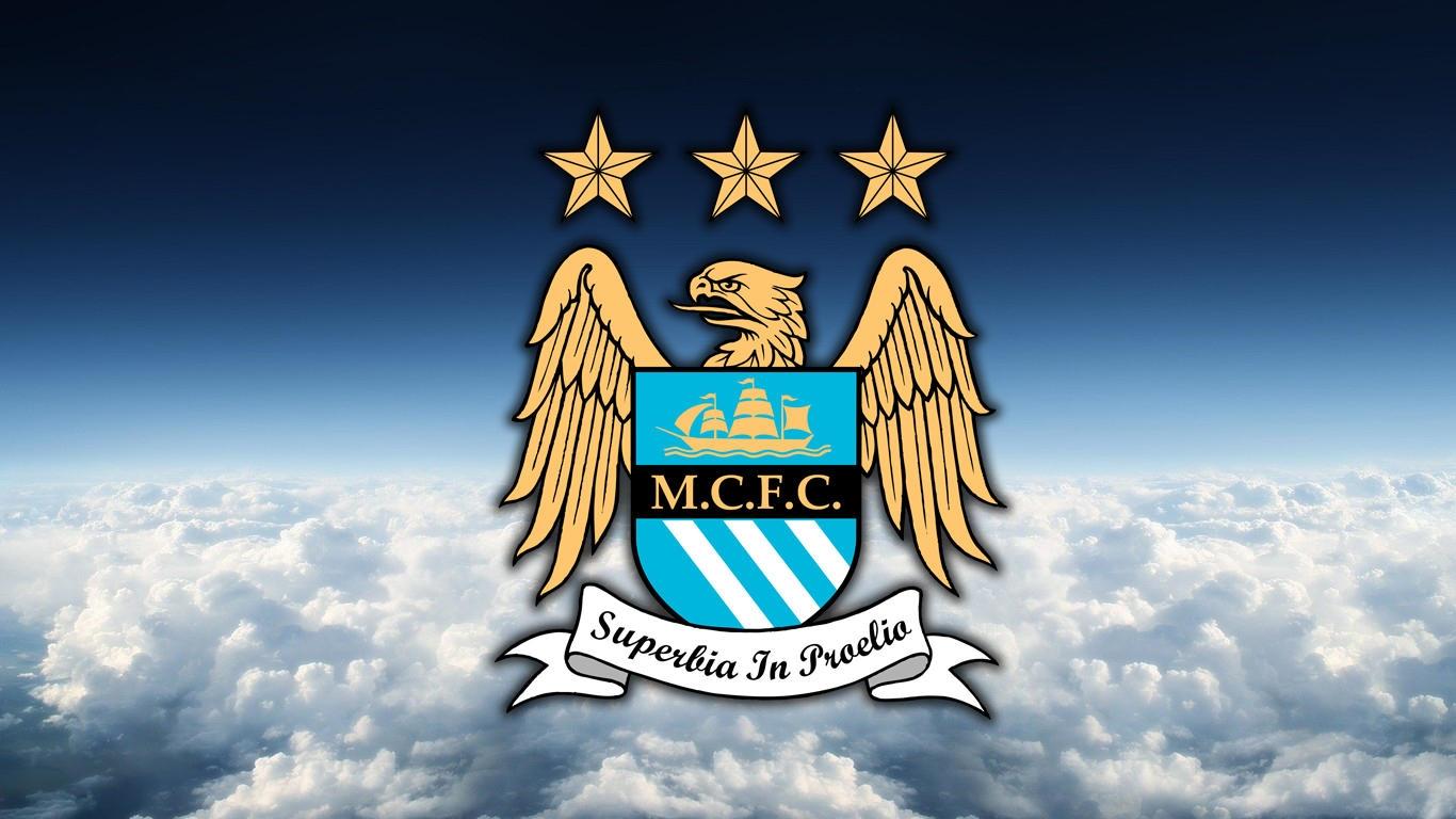 11 Best Manchester City Logo Wallpapers Download Wallpaper 1366x768