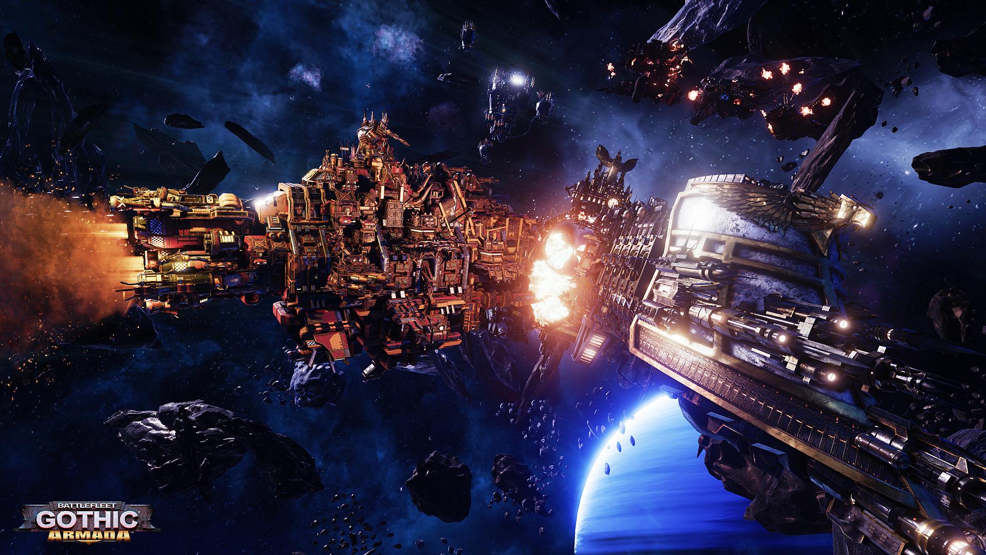 battlefleet gothic armada warhammer 40k Wallpaper HD Games 4K 1920x1080