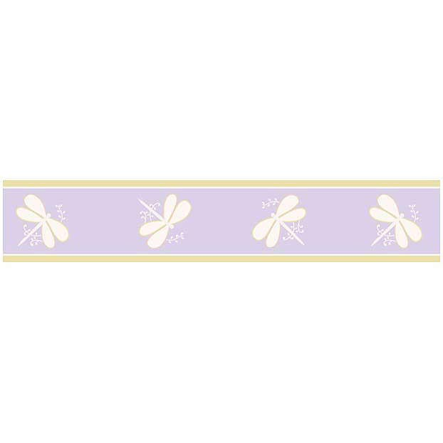 Purple Dragonfly Dreams Wallpaper Border by Sweet Jojo Designs 622x622