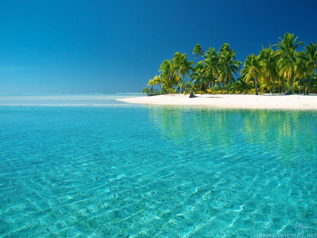 Beach Wallpaper Blue Ocean 1024x768