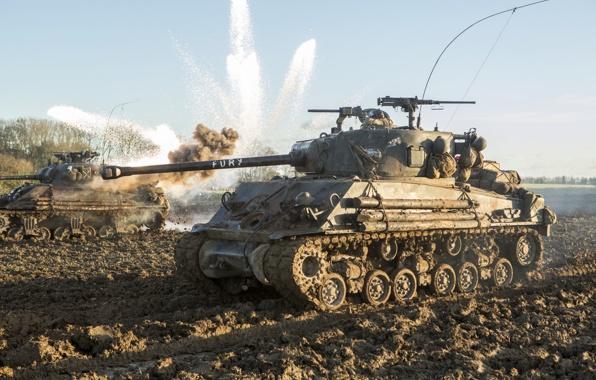 Wallpaper fury fury tank m4 sherman battle field dirt wallpapers 596x380