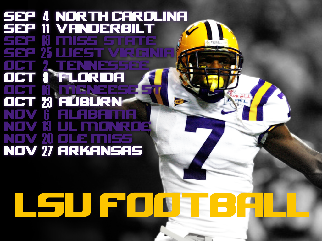 lsu lsu football wallpaper 2010 schedule tigers patrick peterson 1024x768