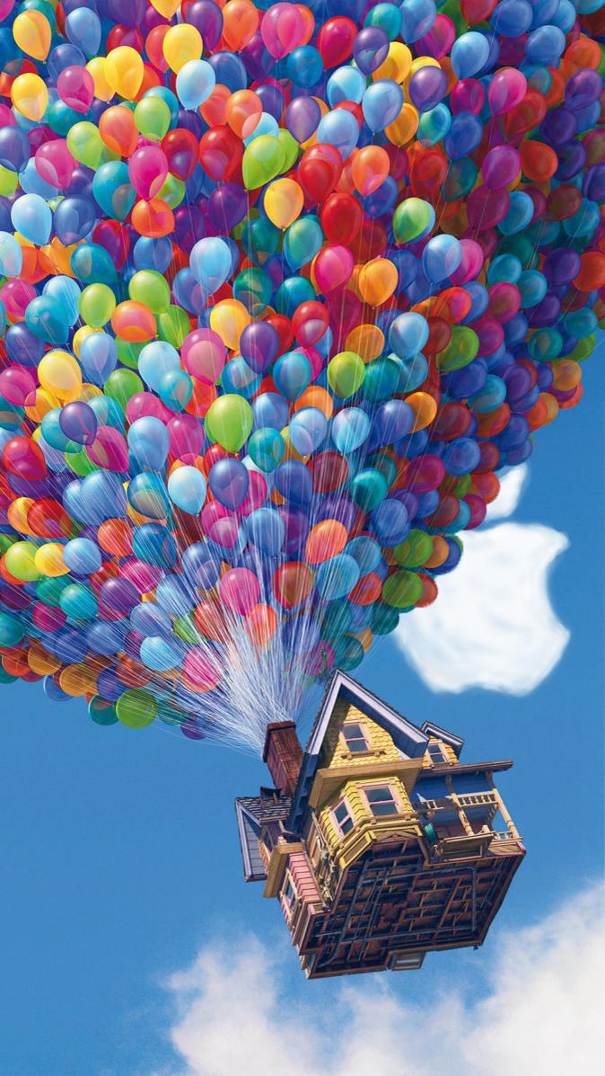 iPhone 5 Pixar UP wallpaper HD by LindsayCookie 674x1197