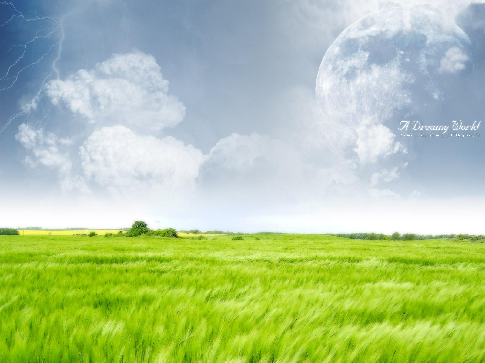 Green Farm Dreamy World Wallpapers HD Wallpapers 1600x1200