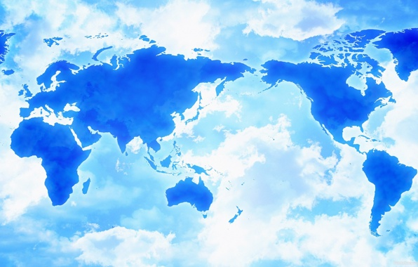 Wallpaper map clouds asia africa america wallpapers miscellanea 596x380
