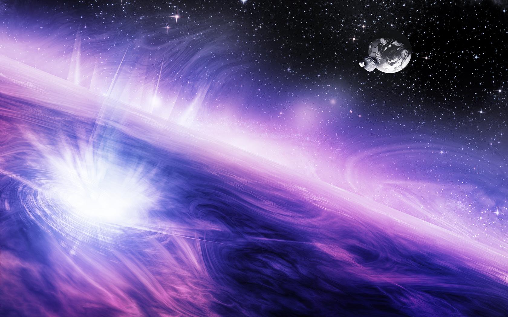 16 Bit Space Background 16 1680x1050